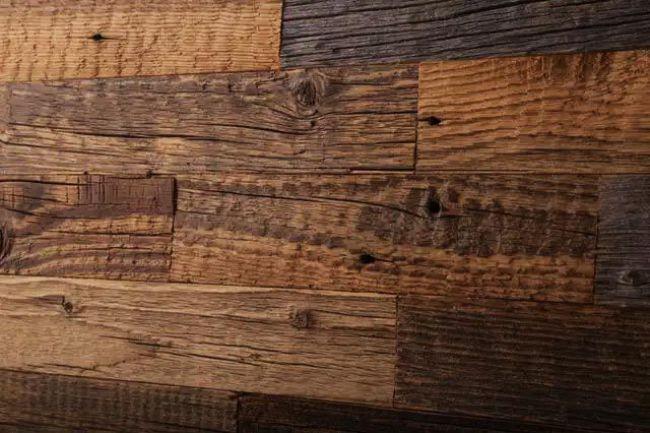 Отделка интерьеров старым деревом