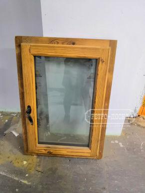 Входная дверь из амбарной доски + подарок окно