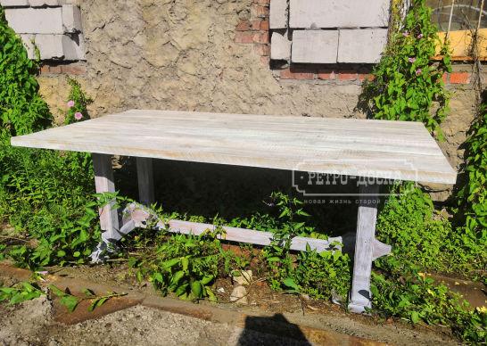 Стол из толстой амбарной доски 40 мм