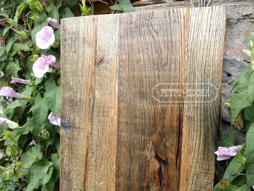 Амбарная доска старый дуб. Покрытие лак