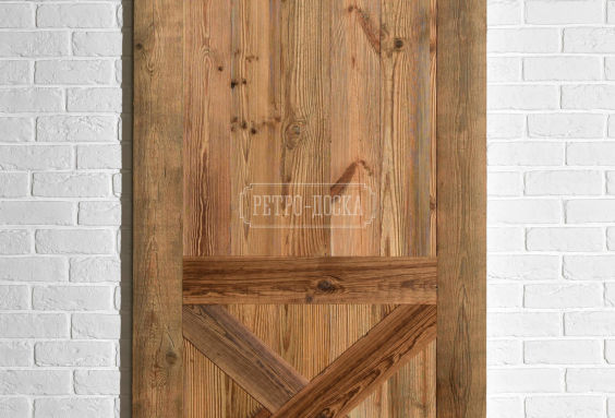 Амбарные двери из ретро-доски