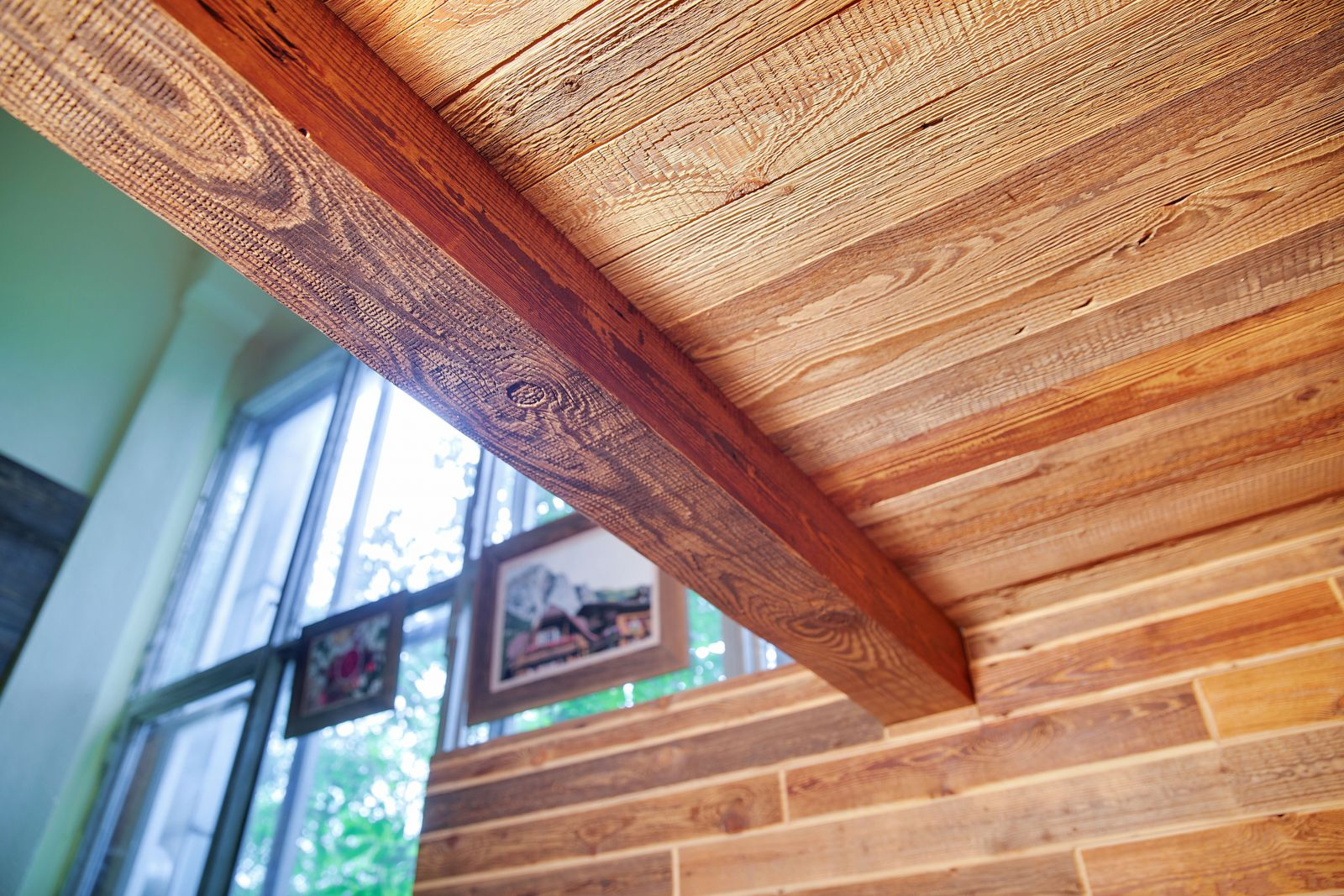 Фальш балки потолочные из дерева своими руками 12