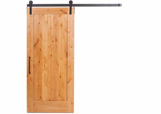 Амбарные двери из массива дерева