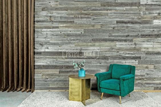Панель деревянная оригинальная серая