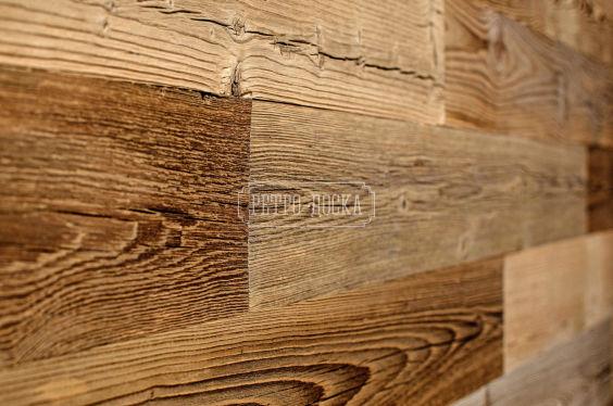 Панель деревянная брашированная коричневая